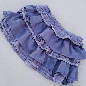 Carter' Ruffle Skirt with Cotton and Sheer Ruffles